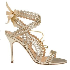 "ee147081a8 Marchesa Shoes - Marchesa ""Sarah"" Gold Leather Strappy Sandals"